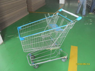 Chiny 100L Supermarket Shopping Carts zinc plated with clear  lacquer fabryka
