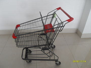 Chiny Zinc Plated Surface Supermarket Shopping Trolley 80L For Small Stores / Hypermarket fabryka