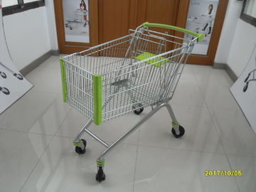 Chiny 4 Wheel Supermarket Shopping Trolley Cart With 5 Inch Casters 150L fabryka