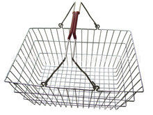 Low Carbon Steel Hand - Held Metal Shopping Baskets With Handles 20 Liter